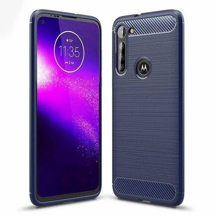 Carbon Case elastické pouzdro Motorola Moto G8 Power modré