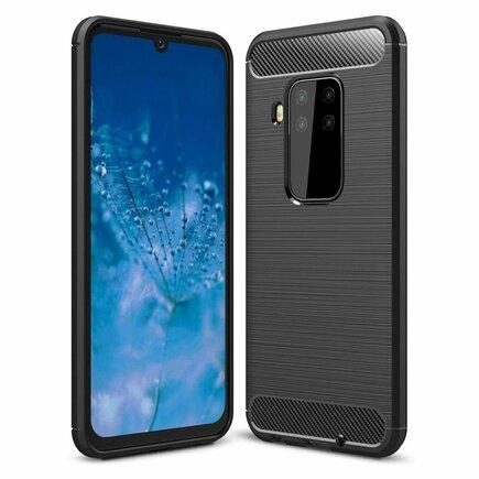 Carbon Case elastické pouzdro Motorola Moto One Pro / Zoom černé