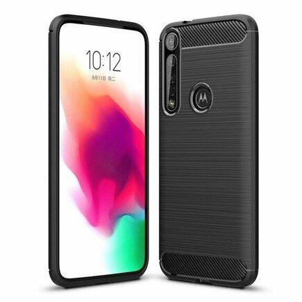 Carbon Case elastické pouzdro Motorola One Macro černé