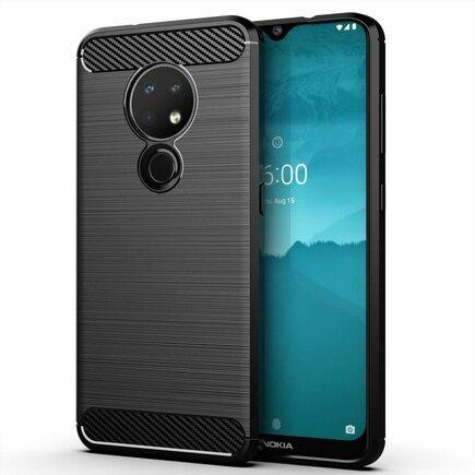 Carbon Case elastické pouzdro Nokia 7.2 / Nokia 6.2 černé