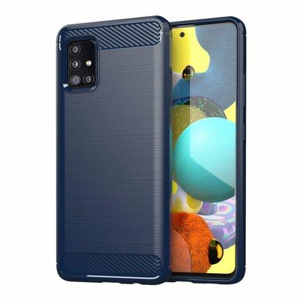 Carbon Case elastické pouzdro Samsung Galaxy A71 5G modré
