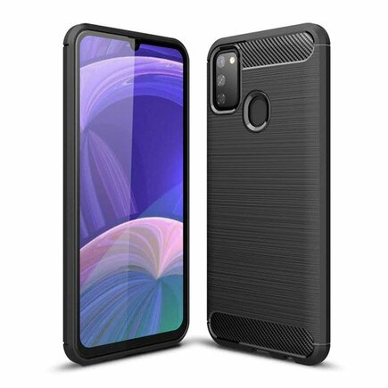 Carbon Case elastické pouzdro Samsung Galaxy M30s / Galaxy M21 černé