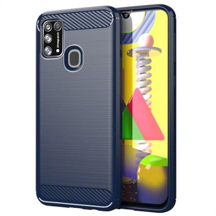 Carbon Case elastické pouzdro Samsung Galaxy M30s / Galaxy M21 modré