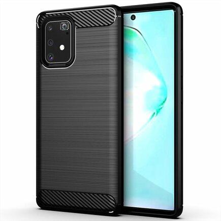 Carbon Case elastické pouzdro Samsung Galaxy S10 Lite černé