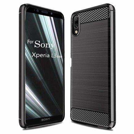 Carbon Case elastické pouzdro Sony Xperia L3 černé