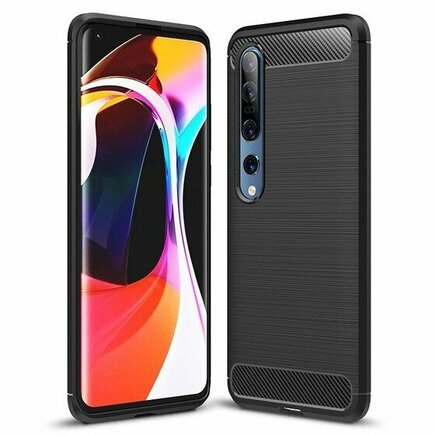 Carbon Case elastické pouzdro Xiaomi Mi 10 Pro / Xiaomi Mi 10 černé