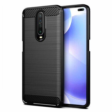 Carbon Case elastické pouzdro Xiaomi Redmi K30 černé