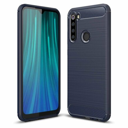 Carbon Case elastické pouzdro Xiaomi Redmi Note 8 modré
