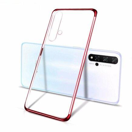 Clear Color case gelové pouzdro s metalickým rámem Huawei Nova 5T / Honor 20 / Honor 20 Pro / Honor 20S červené