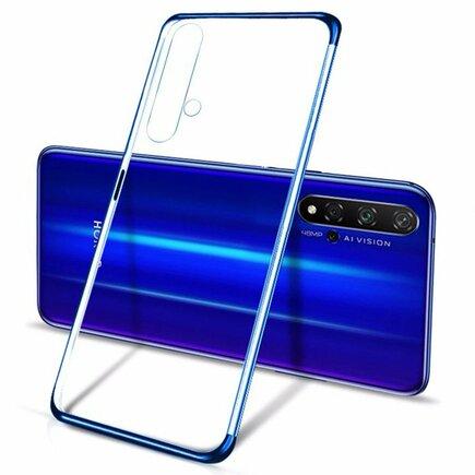 Clear Color case gelové pouzdro s metalickým rámem Huawei Nova 5T / Honor 20 / Honor 20 Pro / Honor 20S modré