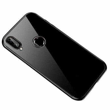 Clear Color case gelové pouzdro s metalickým rámem Huawei P Smart 2019 černé