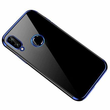 Clear Color case gelové pouzdro s metalickým rámem Huawei P Smart 2019 modré