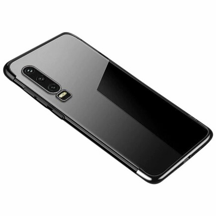 Clear Color case gelové pouzdro s metalickým rámem Huawei P Smart Pro / Huawei Y9s černé