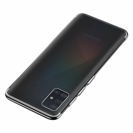 Clear Color case gelové pouzdro s metalickým rámem Samsung Galaxy A51 černé