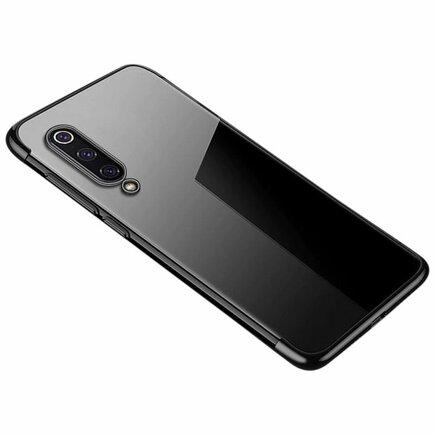 Clear Color case gelové pouzdro s metalickým rámem Xiaomi Mi 9 Lite / Xiaomi Mi CC9 černé