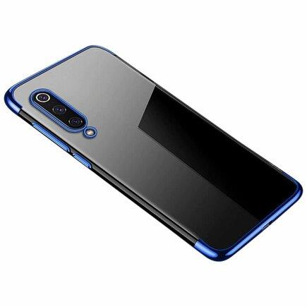 Clear Color case gelové pouzdro s metalickým rámem Xiaomi Mi 9 Lite / Xiaomi Mi CC9 modré