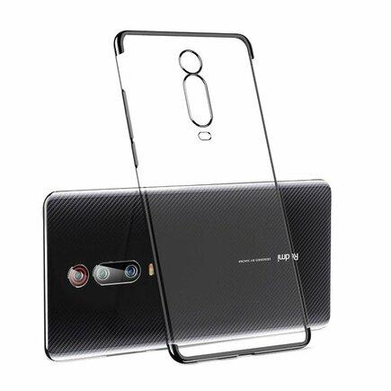 Clear Color case gelové pouzdro s metalickým rámem Xiaomi Mi 9T / Xiaomi Mi 9T Pro černé
