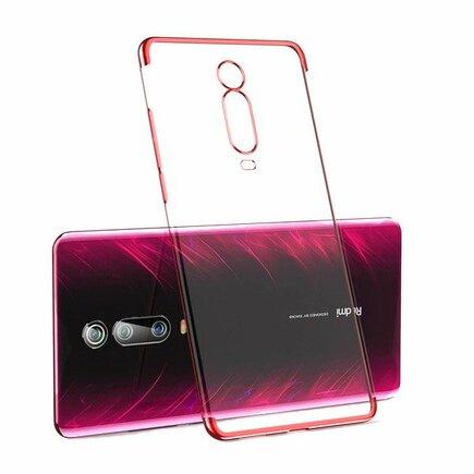 Clear Color case gelové pouzdro s metalickým rámem Xiaomi Mi 9T / Xiaomi Mi 9T Pro červené