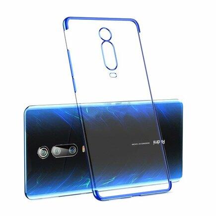 Clear Color case gelové pouzdro s metalickým rámem Xiaomi Mi 9T / Xiaomi Mi 9T Pro modré