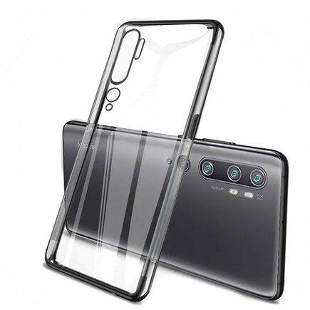 Clear Color case gelové pouzdro s metalickým rámem Xiaomi Mi Note 10 / Mi Note 10 Pro / Mi CC9 Pro černé