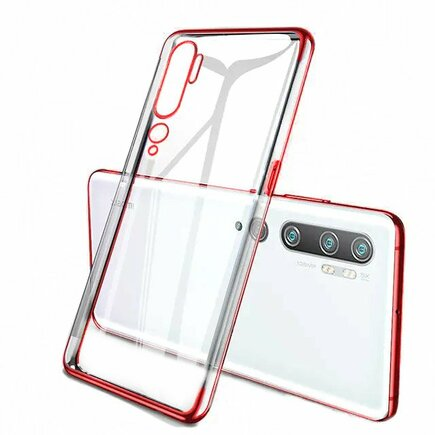 Clear Color case gelové pouzdro s metalickým rámem Xiaomi Mi Note 10 / Mi Note 10 Pro / Mi CC9 Pro červené