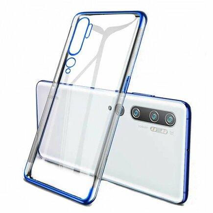 Clear Color case gelové pouzdro s metalickým rámem Xiaomi Mi Note 10 / Mi Note 10 Pro / Mi CC9 Pro modré