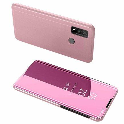 Clear View Case pouzdro s klapkou Huawei P Smart 2020 růžové