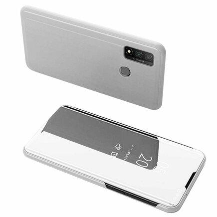Clear View Case pouzdro s klapkou Huawei P Smart 2020 stříbrné