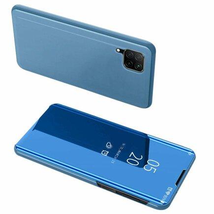 Clear View Case pouzdro s klapkou Huawei P40 Lite / Nova 7i / Nova 6 SE modré