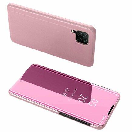 Clear View Case pouzdro s klapkou Huawei P40 Lite / Nova 7i / Nova 6 SE růžové