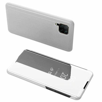 Clear View Case pouzdro s klapkou Huawei P40 Lite / Nova 7i / Nova 6 SE stříbrné