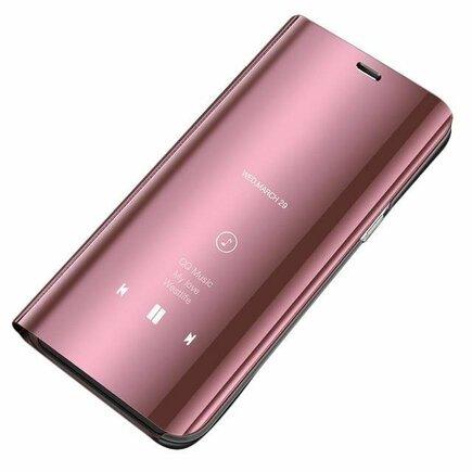 Clear View Case pouzdro s klapkou Huawei Y5 2019 růžové