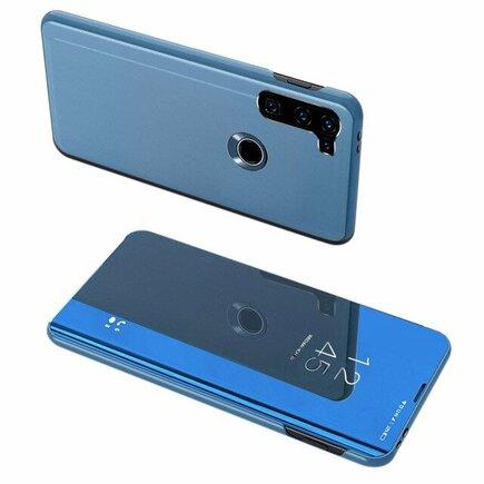 Clear View Case pouzdro s klapkou Motorola Moto G8 Power modré