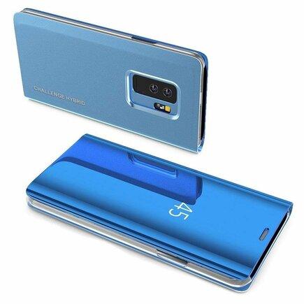 Clear View Case pouzdro s klapkou Samsung Galaxy S10 modré (logo Challenge Hybrid)