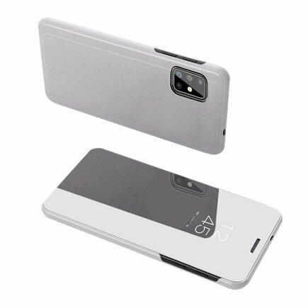 Clear View Case pouzdro s klapkou Samsung Galaxy S20 Plus stříbrné