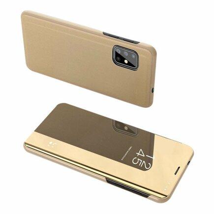 Clear View Case pouzdro s klapkou Samsung Galaxy S20 Ultra zlaté