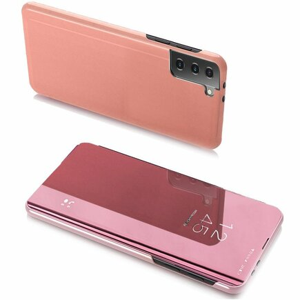 Clear View Case pouzdro s klapkou Samsung Galaxy S21+ 5G (S21 Plus 5G) růžové