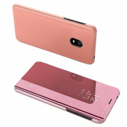 Clear View Case pouzdro s klapkou Xiaomi Redmi 8A růžové