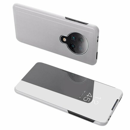Clear View Case pouzdro s klapkou Xiaomi Redmi K30 Pro / Poco F2 Pro stříbrné