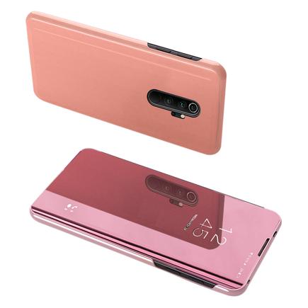Clear View Case pouzdro s klapkou Xiaomi Redmi Note 8 Pro růžové