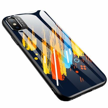 Color Glass Case pouzdro z tvrzeného skla s clonou na kameru iPhone XR vzorek 5