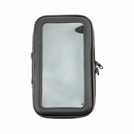 Cyklistický voděodolný držák pro telefon na řídítka XL (max. rozměr telefonu: 165 mm x 80 mm) černý (bez fixace)