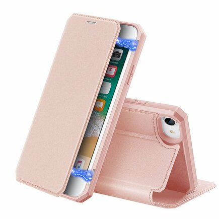 DUX DUCIS Skin X flipové pouzdro iPhone SE 2020 / iPhone 8 / iPhone 7 růžové