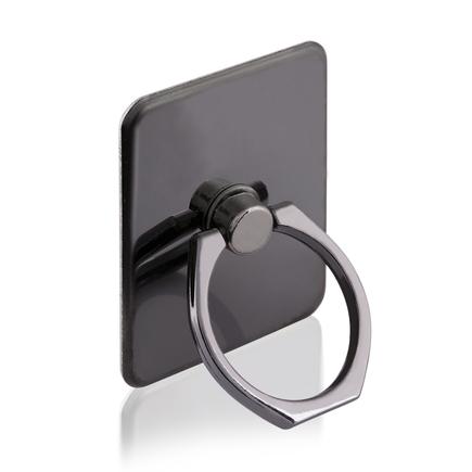 Držák na telefon ring s podstavcem ve tvaru prstýnku černý
