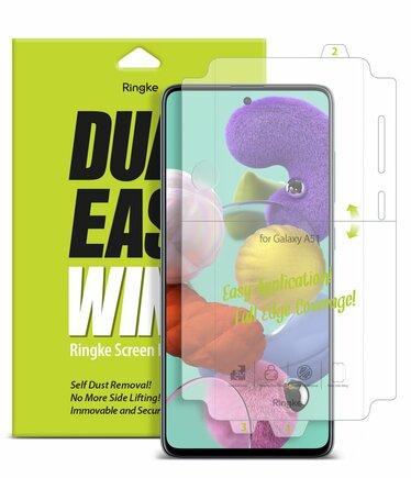 Dual Easy Wing 2x ochranná fólie na displej a boky telefonu Samsung Galaxy A51 (DWSG0001)