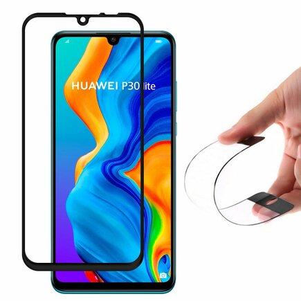 Full Cover Flexi Nano skleněná fólie s rámem Huawei P30 Lite černá