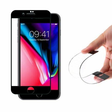 Full Cover Flexi Nano skleněná fólie s rámem iPhone SE 2020 / iPhone 8 / iPhone 7 černá