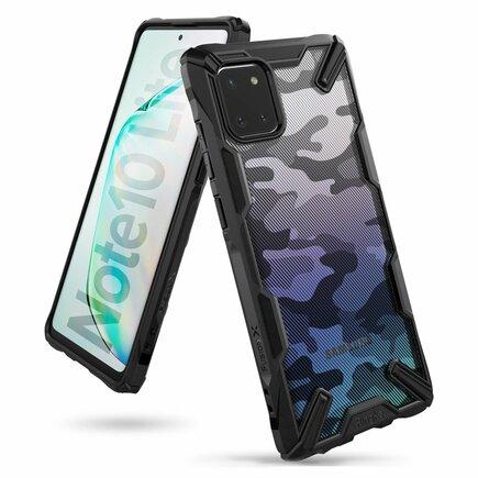 Fusion X Design pancéřové pouzdro s rámem Samsung Galaxy Note 10 Lite černé Camo Black (XDSG0028)