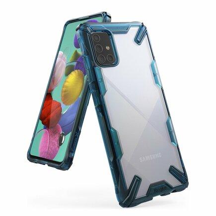 Fusion X pancéřové pouzdro s rámem Samsung Galaxy A71 modré (FUSG0040)
