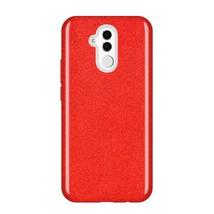 Glitter Case lesklé pouzdro s brokátem Huawei Mate 20 Lite červené